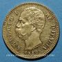Monnaies Italie. Umberto I (1878-1900). 20 lires 1889 R. Rome. Année rare !. (PTL 900‰. 6,45 g)