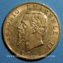 Monnaies Italie. Victor Emmanuel (1861-1878). 20 lires 1877 R. Rome. (PTL 900‰. 6,45 g)