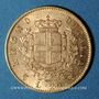 Monnaies Italie. Victor Emmanuel II (1861-1878). 20 lires 1863 T BN. Turin. (PTL 900‰. 6,45 g)