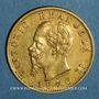 Monnaies Italie. Victor Emmanuel II (1861-1878). 20 lires 1876 R. Rome. (PTL 900‰. 6,45 g)
