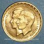 Monnaies Luxembourg. Jean, grand-duc (1964-2000). Module de 20 francs 1953. Mariage (PTL 900 ‰. 6,45 g)