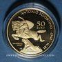 Monnaies Malte. République. 50 euro 2016. Antonio Sciortino 1879-1947. (PTL 916‰. 6,50 g)