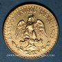 Monnaies Mexique. République. 2 pesos 1945. (PTL 900‰. 1,66 g)