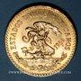 Monnaies Mexique. République. 20 pesos 1959. (PTL 900‰. 16,67 g)