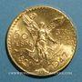 Monnaies Mexique. République. 50 pesos 1947. (PTL 900/1000. 41,67 g)