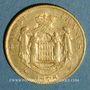 Monnaies Monaco. Charles III (1856-1889). 20 francs 1878, 7 bas. (PTL 900‰. 6,45 g)