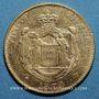 Monnaies Monaco. Charles III (1856-1889). 20 francs 1879 A. Ancre barrée. (PTL 900‰. 6,45 g)
