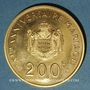 Monnaies Monaco. Rainier III (1949-2005). 200 francs 1966. (PTL 920‰. 32 g)