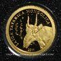 Monnaies Mongolie. République. 500 tugrik 2011 (PTL 999‰. 0,5 g)