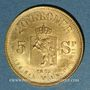 Monnaies Norvège. Oscar II (1872-1907). 20 kroner 1875 (PTL 900‰. 8,96 g)