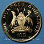 Monnaies Ouganda. République. 100 shillings 1969. (PTL 900‰. 13,82 g)