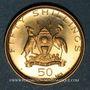 Monnaies Ouganda. République. 50 shillings 1969. Visite du Pape Paul VI. (PTL 900‰. 6,91 g)