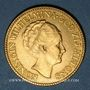 Monnaies Pays Bas. Wilhelmine (1890-1948). 10 florins (= 10 gulden) 1927. (PTL 900‰. 6,72 g)