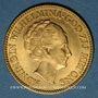 Monnaies Pays Bas. Wilhelmine (1890-1948). 10 florins (= 10 gulden) 1933. (PTL 900‰. 6,72 g)