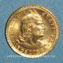 Monnaies Perou. République. 1/5 libra 1966. (PTL 917‰. 1,5976 g)