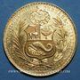 Monnaies Perou. République. 100 soles 1951. (PTL 900‰. 46,8071 g)