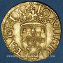 Monnaies Portugal. Jean III (1521-1557). Cruzado au calvaire, 2e type. Lisbonne