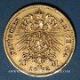 Monnaies Prusse. Guillaume I (1861-1888). 10 mark 1872 B. (PTL 900‰. 3,98 g)
