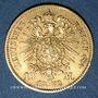 Monnaies Prusse. Guillaume I (1861-1888). 10 mark 1872 C. (PTL 900‰. 3,98 g)