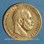 Monnaies Prusse. Guillaume I (1861-1888). 10 mark 1874 A. (PTL 900‰. 3,98 g)