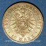 Monnaies Prusse. Guillaume I (1861-1888). 10 mark 1878 A. (PTL 900‰. 3,98 g)