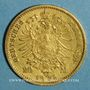 Monnaies Prusse. Guillaume I (1861-1888). 20 mark 1872 B. (PTL 900‰. 7,96 g)