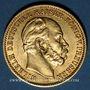 Monnaies Prusse. Guillaume I (1861-1888). 20 mark 1872C. (PTL 900/1000. 7,96 g)