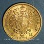 Monnaies Prusse. Guillaume I (1861-1888). 20 mark 1873 C. (PTL 900 ‰. 7,96 g)