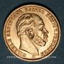 Monnaies Prusse. Guillaume I (1861-1888). 20 mark 1873B. (PTL 900/1000. 7,96 g)