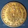 Monnaies Prusse. Guillaume I (1861-1888). 20 mark 1875 A. (PTL 900‰. 7,96 g)