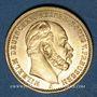Monnaies Prusse. Guillaume I (1861-1888). 20 mark 1875A. (PTL 900/1000. 7,96 g)