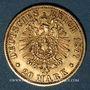 Monnaies Prusse. Guillaume I (1861-1888). 20 mark 1877 A. (PTL 900‰. 7,96 g)