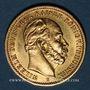 Monnaies Prusse. Guillaume I (1861-1888). 20 mark 1877 B. (PTL 900‰. 7,96 g)