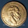 Monnaies Prusse. Guillaume I (1861-1888). 20 mark 1881 A. (PTL 900‰. 7,96 g)