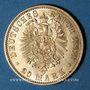 Monnaies Prusse. Guillaume I (1861-1888). 20 mark 1881A. (PTL 900/1000. 7,96 g)