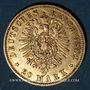 Monnaies Prusse. Guillaume I (1861-1888). 20 mark 1882 A. (PTL 900‰. 7,96 g)