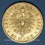 Monnaies Prusse. Guillaume I (1861-1888). 20 mark 1883 A. (PTL 900‰. 7,96 g)