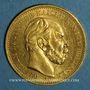 Monnaies Prusse. Guillaume I (1861-1888). 20 mark 1884 A. (PTL 900‰. 7,96 g)