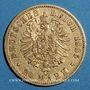 Monnaies Prusse. Guillaume I (1861-1888). 20 mark 1885 A. (PTL 900‰. 7,96 g)