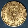 Monnaies Prusse. Guillaume I (1861-1888). 20 mark 1886 A. (PTL 900‰. 7,96 g)