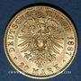 Monnaies Prusse. Guillaume I (1861-1888). 20 mark 1887 A. (PTL 900‰. 7,96 g)