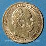 Monnaies Prusse. Guillaume I (1861-1888). 5 mark 1877 C. (PTL 900‰. 1,9910 g)