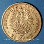 Monnaies Prusse. Guillaume II (1888-1918). 20 mark 1889 A. (PTL 900‰. 7,96 g)