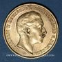 Monnaies Prusse. Guillaume II (1888-1918). 20 mark 1910 A. (PTL 900‰. 7,96 g)