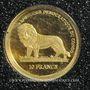 Monnaies République Démocratique du Congo. 10 francs 2006 (PTL 999‰. 0,5 g)