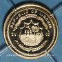Monnaies République du Libéria. 10 dollars Jean Paul II 2003. (PTL 585/1000. 0,5 g)