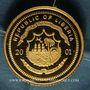 Monnaies République du Libéria. 25 dollars Einstein 2001. (PTL 999/1000. 0,73 g)