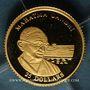 Monnaies République du Libéria. 25 dollars Gandhi 2001. (PTL 999‰. 0,73 g)