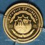 Monnaies République du Libéria. 25 dollars Goethe 2001. (PTL 999‰. 0,73 g)
