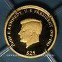 Monnaies République du Libéria. 25 dollars J.F. Kennedy 2003. (PTL 999‰. 0,73 g)